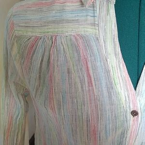 Anthropologie Tops - Anthropologie Striped Cotton Blouse